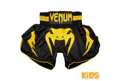 BANGKOK INFERNO KIDS MUAY THAI SHORTS - BLACK/YELLOW VENUM