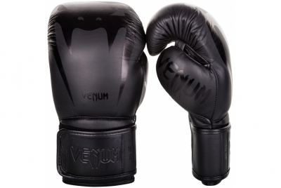 GIANT 3.0 BOXING GLOVES - NAPPA LEATHER - BLACK/BLACK VENUM