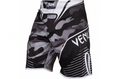 CAMO HERO FIGHTSHORTS - BlACK/GREY VENUM