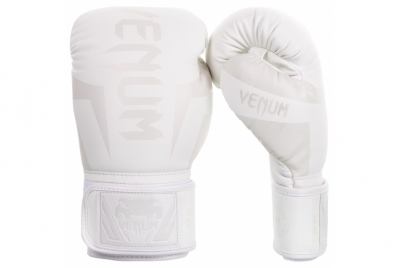 ELITE BOXING GLOVES - WHITE/WHITE VENUM