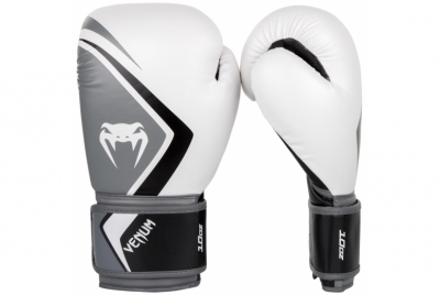BOXING GLOVES CONTENDER 2.0 - WHITE/GREY-BLACK VENUM