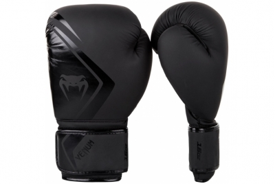 BOXING GLOVES CONTENDER 2.0 - BLACK/BLACK VENUM