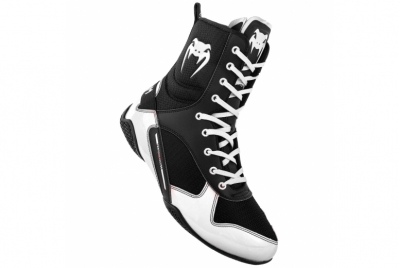 ELITE BOXING SHOES - BLACK/WHITE VENUM