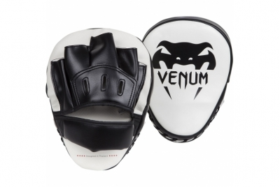 LIGHT FOCUS MITTS - WHITE/BLACK (PAIR) VENUM