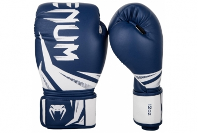 CHALLENGER 3.0 BOXING GLOVES - NAVY BLUE/WHITE VENUM