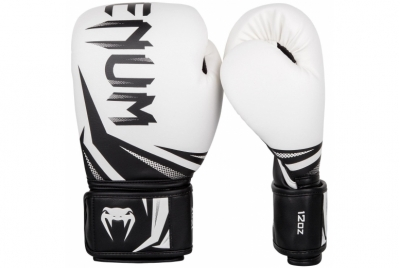 CHALLENGER 3.0 BOXING GLOVES - WHITE/BLACK VENUM
