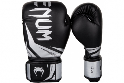 CHALLENGER 3.0 BOXING GLOVES - BLACK/SILVER VENUM
