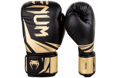 CHALLENGER 3.0 BOXING GLOVES - BLACK/GOLD VENUM