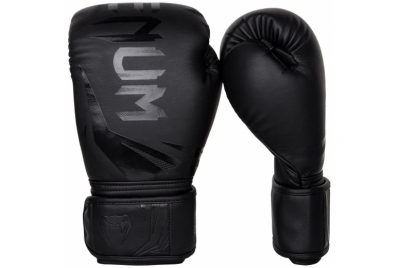 CHALLENGER 3.0 BOXING GLOVES - BLACK/BLACK VENUM