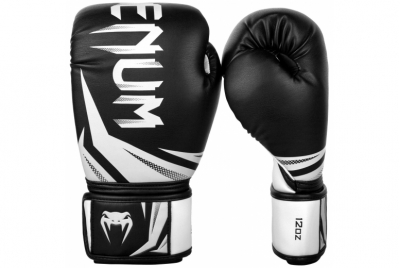 CHALLENGER 3.0 BOXING GLOVES - BLACK/WHITE VENUM