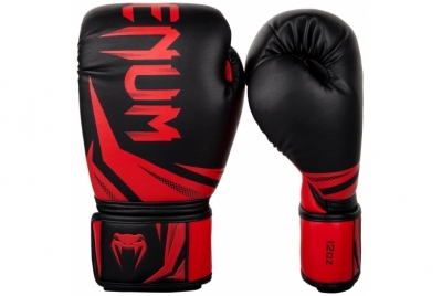 CHALLENGER 3.0 BOXING GLOVES - BLACK/RED VENUM