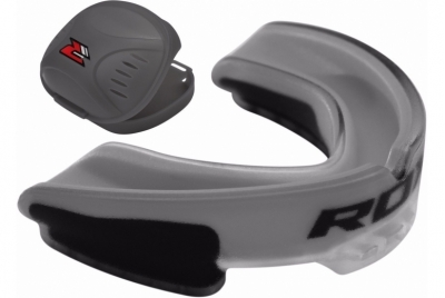 GREY GEL GUM SHIELD MOUTHGUARD ADULTS RDX