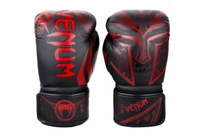 GLADIATOR 3.0 BOXING GLOVES - BLACK/RED VENUM