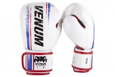 BANGKOK SPIRIT BOXING GLOVES - NAPPA LEATHER - WHITE VENUM
