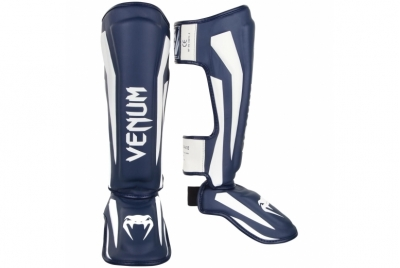 ELITE STANDUP SHIN GUARDS - WHITE/NAVY BLUE VENUM
