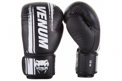 BANGKOK SPIRIT BOXING GLOVES - NAPPA LEATHER - BLACK VENUM
