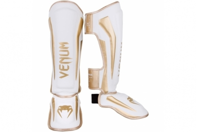 ELITE STANDUP SHIN GUARDS - WHITE/GOLD VENUM