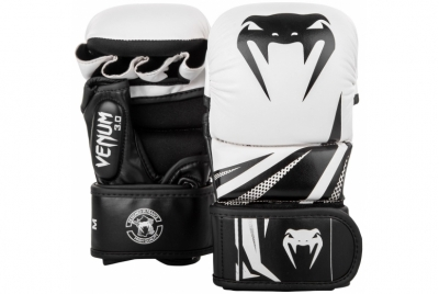 CHALLENGER 3.0 SPARRING GLOVES - WHITE/BLACK VENUM