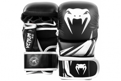 CHALLENGER 3.0 SPARRING GLOVES - BLACK/WHITE VENUM