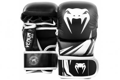 RĘKAWICE SPARINGOWE MMA CHALLENGER 3.0 CZARNY/BIAŁY VENUM