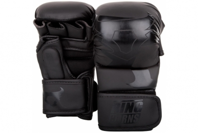 CHARGER SPARRING GLOVES - BLACK/BLACK RINGHORNS