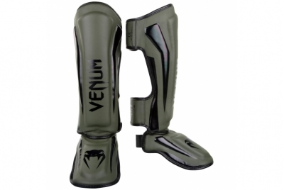 ELITE STANDUP SHIN GUARDS - KHAKI/BLACK VENUM