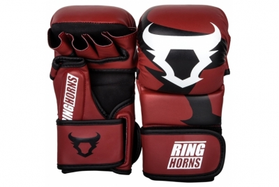 CHARGER SPARRING GLOVES - RED RINGHORNS
