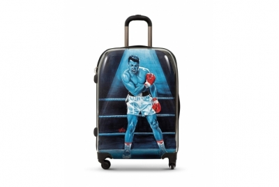 "SUITCASE WTH REPRODUCTION OF THE ORIGINAL ""MUHAMMAD ALI"". LIMITED"