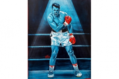 "REPRODUCTION OF THE ORIGINAL ""MUHAMMAD ALI"". LIMITED EDITION."
