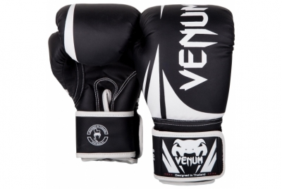 CHALLENGER 2.0 KIDS BOXING GLOVES - BLACK/WHITE VENUM