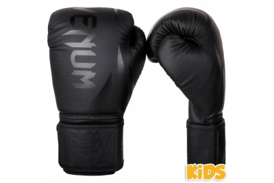 CHALLENGER 2.0 KIDS BOXING GLOVES - BLACK/BLACK VENUM