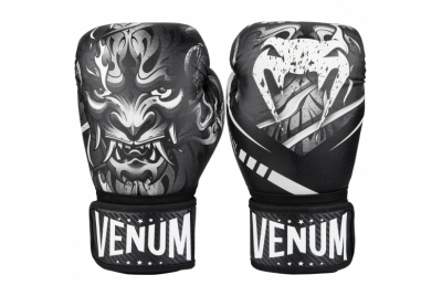 DEVIL BOXING GLOVES - WHITE/BLACK VENUM