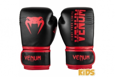 SIGNATURE KIDS BOXING GLOVES - NOIR/ROUGE VENUM