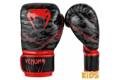 OKINAWA 2.0 KIDS BOXING GLOVES - BLACK/RED VENUM