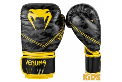 OKINAWA 2.0 KIDS BOXING GLOVES - BLACK/YELLOW VENUM