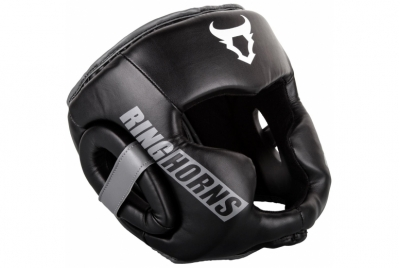 CHARGER HEADGEAR-BLACK RINGHORNS