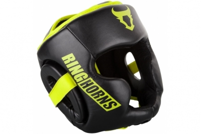 CHARGER HEADGEAR-BLACK/NEO YELLOW RINGHORNS