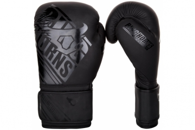 NITRO BOXING GLOVES - BLACK/BLACK RINGHORNS