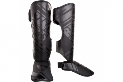 NITRO SHIN GUARDS INSTEPS - BLACK/BLACK RINGHORNS