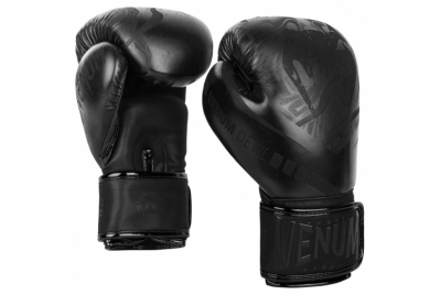 DEVIL BOXING GLOVES - BLACK/BLACK VENUM