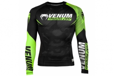 TRAINING CAMP 2.0 RASHGUARD - LONG SLEEVES - BLACK/NEO YELLOW VENUM