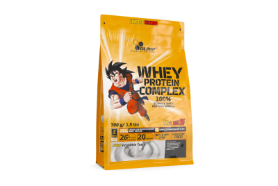 WHEY PROTEIN COMPLEX 100% 0,7 KG BAG BIAŁA CZEKOLADA Z MALINĄ LIMITED EDITION DRAGON BALL OLIMP