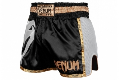 VENUM GIANT MUAY THAI SHORTS - BLACK/WHITE/GOLD