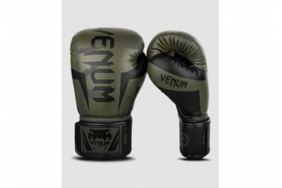 VENUM ELITE BOXING GLOVES - KHAKI CAMO