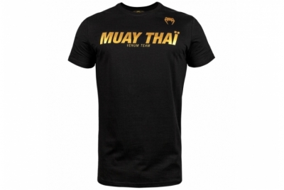 MUAY THAI VT T-SHIRT - BLACK/GOLD VENUM