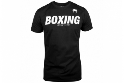 BOXING VT T-SHIRT - BLACK/WHITE VENUM