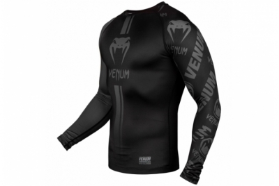 LOGOS RASHGUARD - LONG SLEEVES - BLACK/BLACK VENUM