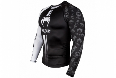 LOGOS RASHGUARD LONG SLEEVES - BLACK/WHITE VENUM