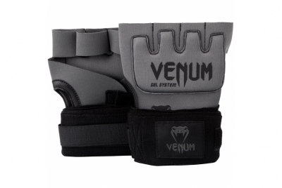 KONTACT GEL GLOVE WRAPS BLACK/GREY VENUM
