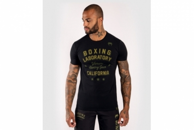 BOXING LAB T-SHIRT - BLACK/GREEN VENUM